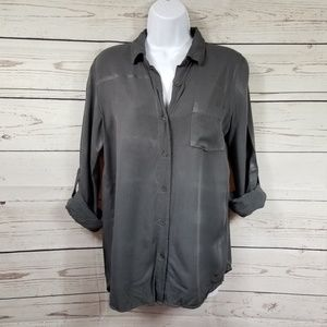 JUSTFAB collared button down shirt dark gray